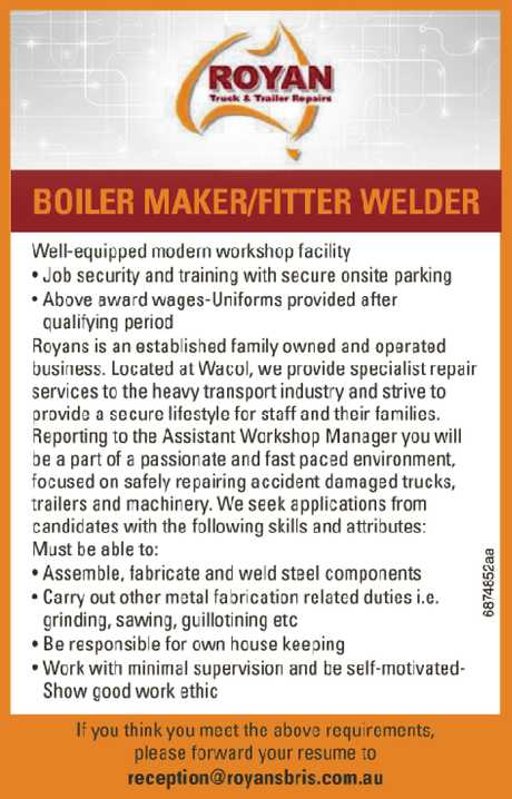 <p> Well-equipped modern workshop facility<br /> <br /> -Job security and training with secure...</p>