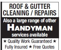 <p> Also a large range of other </p> <p> HANDYMAN </p> <p> services...</p>