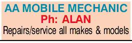 AA MOBILE MECHANIC   Ph: ALAN   Repairs/service all makes & models