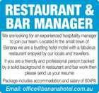 RESTAURANT & BAR MANAGER