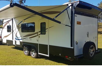 <p> 2014 Talvor </p> <p> 24ft tandem luxury caravan, with large slideout, full rear ensuite with...</p>