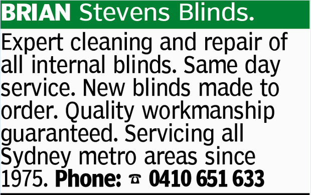 BRIAN Stevens Blinds.