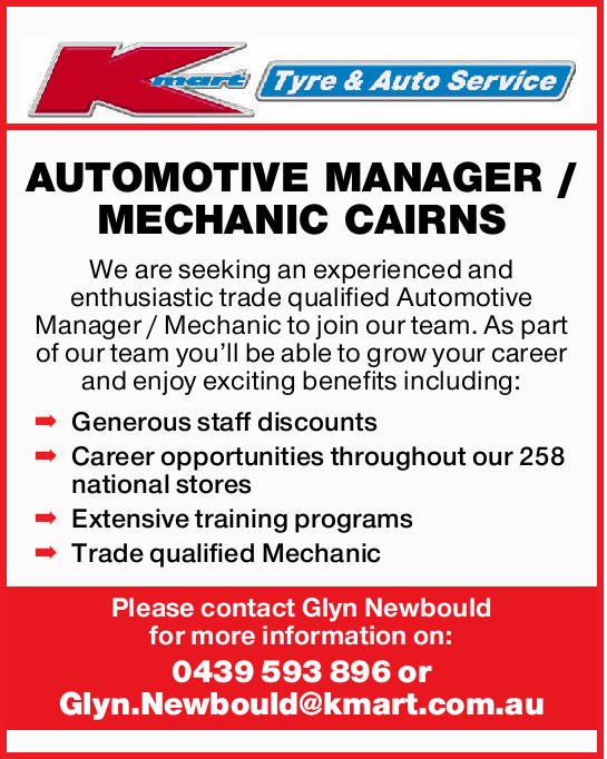 We are seeking an experienced and enthusiastic trade qualified Automotive Manager / Mechanic to j...