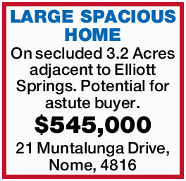 On secluded 3.2 Acres adjacent to Elliott Springs.   Potential for astute buyer.   $545,0...