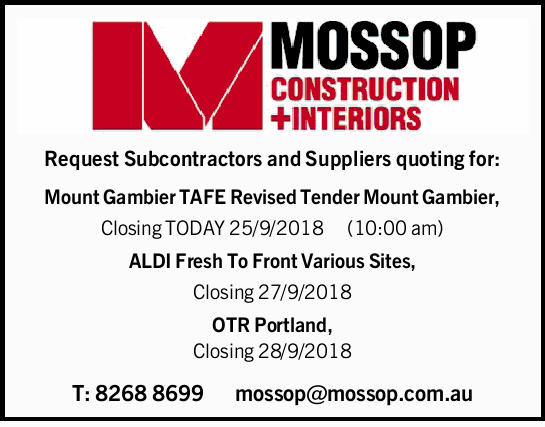 Request Subcontractors and Suppliers quoting for: