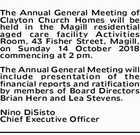 The Annual General Meeting