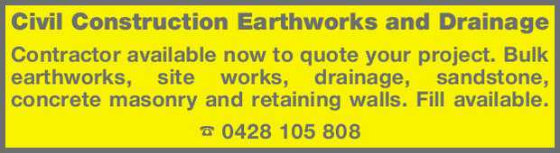 Civil Construction Earthworks and Drainage 
