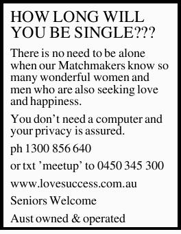 There is no need to be alone when our Matchmakers know so many wonderful women and men who are al...