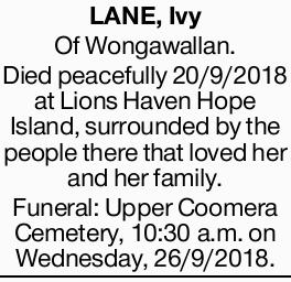 <p> <strong>LANE, Ivy</strong> </p> <p>