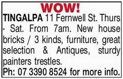 Thurs - Sat. From 7am.