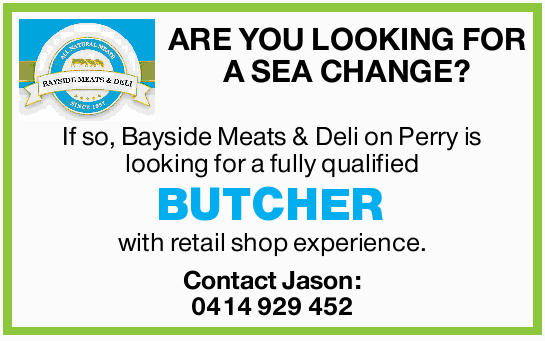 ARE YOU LOOKING FOR A SEA CHANGE?