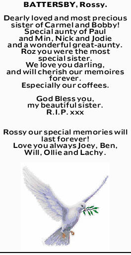 BATTERSBY, Rossy.