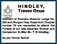 Brethern of Boonara Masonic Lodge No. 332 and Murgon Holy Royal Arch Chapter number 72 are requested...