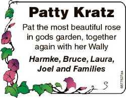 Patty Kratz Harmke, Bruce, Laura, Joel and Families 6877827aa Pat the most beautiful rose in gods ga...
