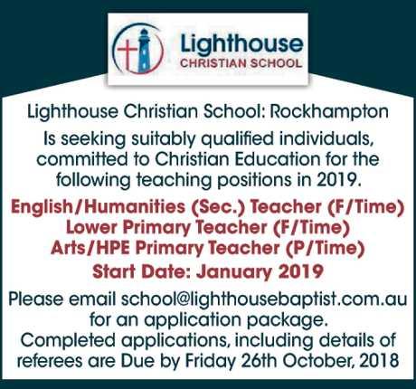"""<p align=""""LEFT"""" dir=""""LTR""""> <span lang=""""EN-AU"""">Lighthouse Christian School - Rockhampton<br /> Is...</span></p>"""