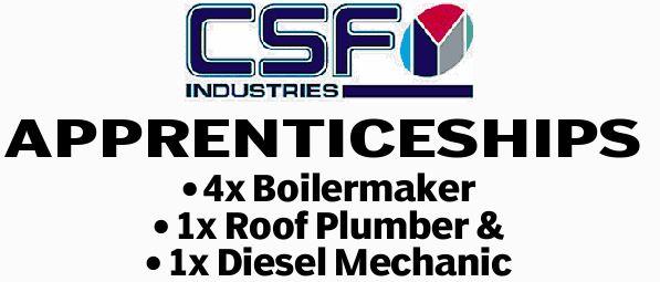 4x Boilermaker 1x Roof Plumber & 1x Diesel Mechanic   Position commence in Jan 2019...