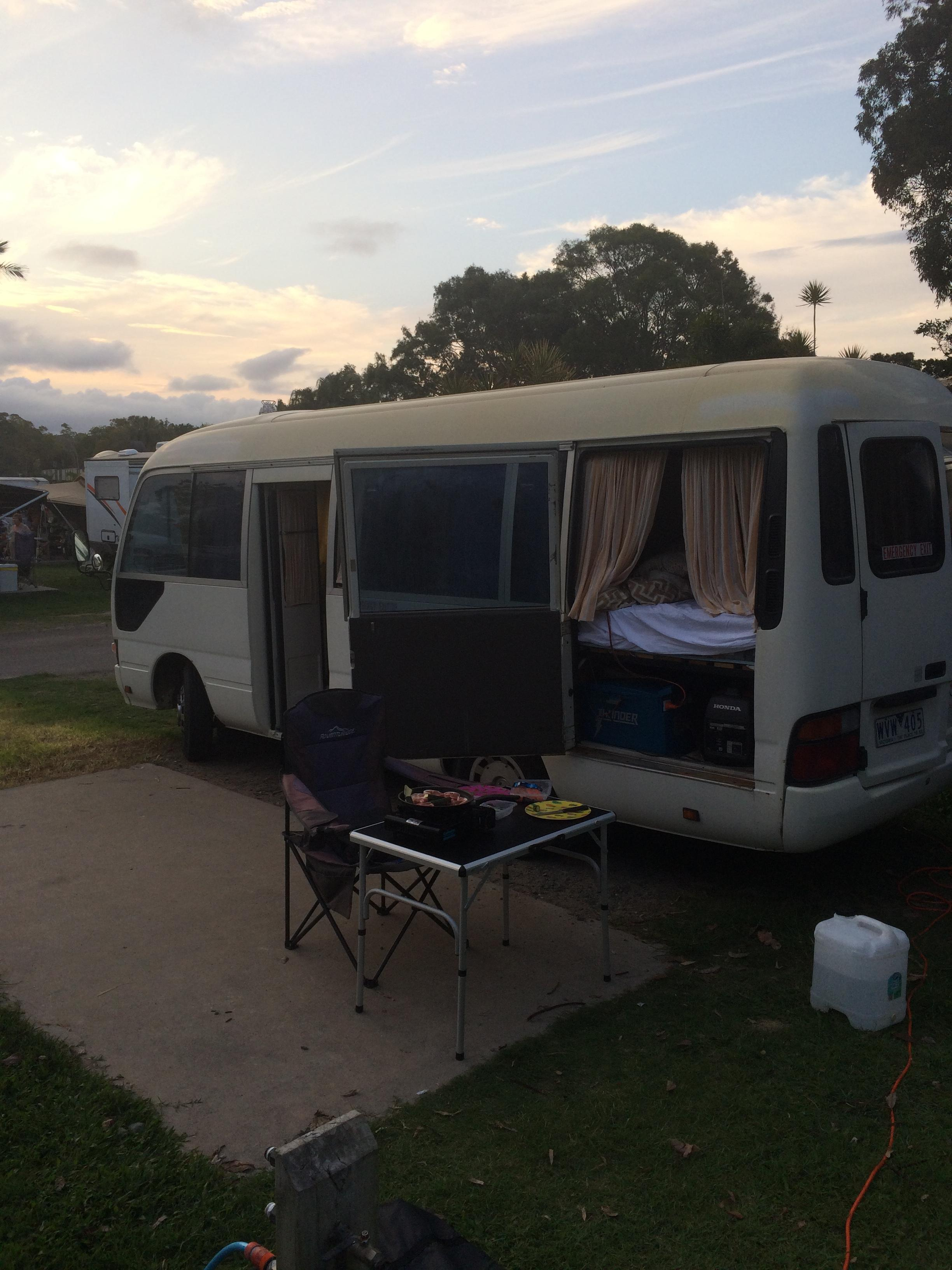 1999 Toyota Coaster Camper Full kitchen,