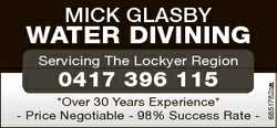 Mick Glasby Water Divining 0417 396 115 *Over 30 Years Experience* - Price Negotiable - 98% Success...