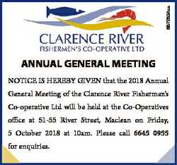 6872834aa ANNUAL GENERAL MEETING NOTICE IS HEREBY GIVEN that the 2018 Annual General Meeting of the...