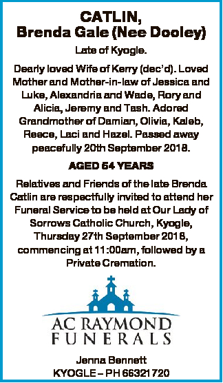 Browsing Funeral Notices | Byron Bay Classifieds | Byron