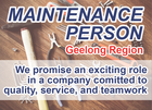 MAINTENANCE OFFICER - Geelong Region