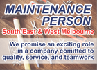 MAINTENANCE PERSON