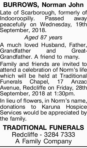 BURROWS, Norman John