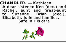 CHANDLER. - Kathleen.