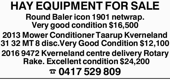 Round Baler icon 1901 netwrap. Very good condition $16,500