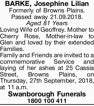 Formerly of Browns Plains.