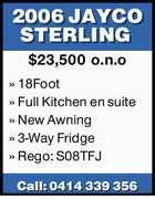 2006 JAYCO STERLING