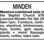 MINDEN Massive combined sale