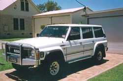 94 NISSAN PATROL RX 4.2 EFI petrol/gas, air con, tow bar, roof rack, 7 seater, RWC, rear airbags,...