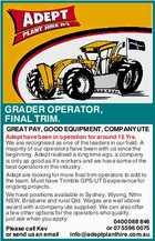 GRADER OPERATOR, FINAL TRIM.