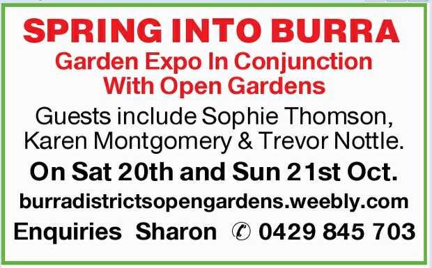 Garden Expo In Conjunction With Open Gardens   Guests include Sophie Thomson, Karen Montgomer...