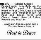 HILBIG, Patricia Clarice