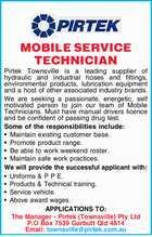 MOBILE SERVICE TECHNICIAN