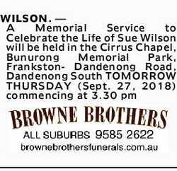 Browsing Funeral Notices | NSW & QLD Classifieds | Daily Telegraph