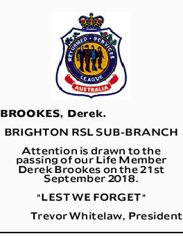 BROOKES, Derek.