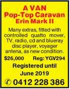 A VAN Pop-Top Caravan Erin Mark II