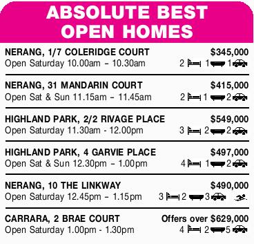 NERANG, 1/7 COLERIDGE COURT $345,000 Open Saturday 10.00am 10.30am 2 Bed1 Bath 1&nbsp...