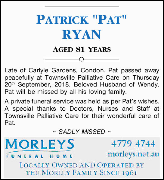"PATRICK ""PAT"" RYAN