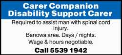 Carer Companion Disability Support Carer
