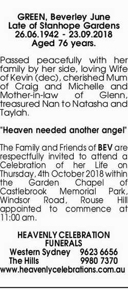 Browsing Funeral Notices | NSW & QLD Classifieds | The