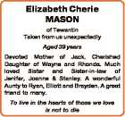 Elizabeth Cherie MASON