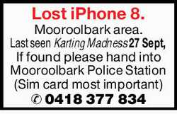 Last seen Karting Madness 27 Sept,