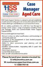 CASE MANAGER - AGED CARE