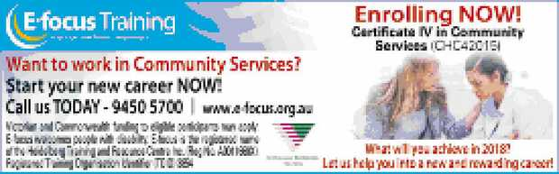 Start your career NOW!   ENROLLING NOW! Certificate IV in Community Services   What wil...