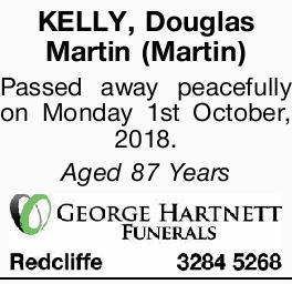 KELLY, Douglas Martin (Martin) 