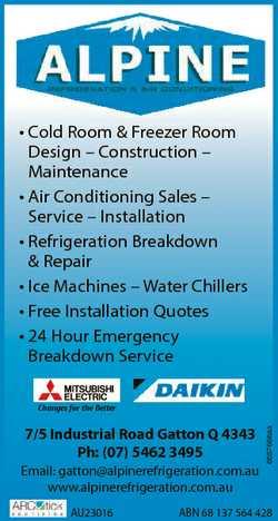 * Cold Room & Freezer Room Design - Construction - Maintenance * Air Conditioning Sales - Ser...